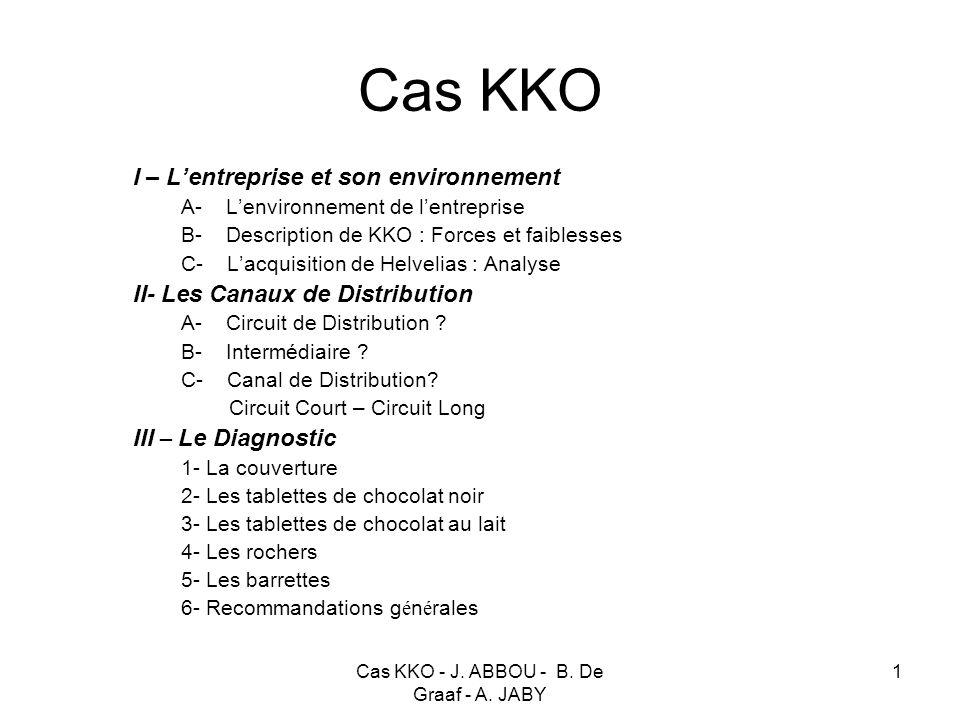 Cas KKO - J. ABBOU - B. De Graaf - A. JABY 1 Cas KKO I – Lentreprise et son environnement A- Lenvironnement de lentreprise B- Description de KKO : For