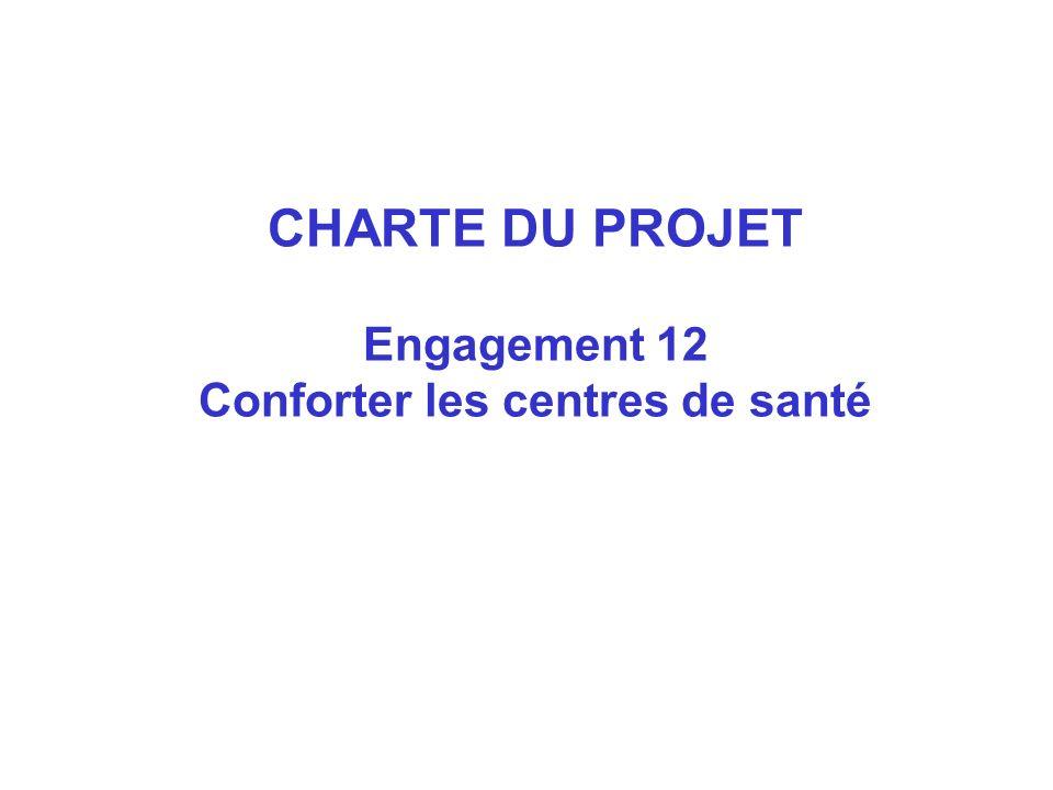 CHARTE DU PROJET Engagement 12 Conforter les centres de santé