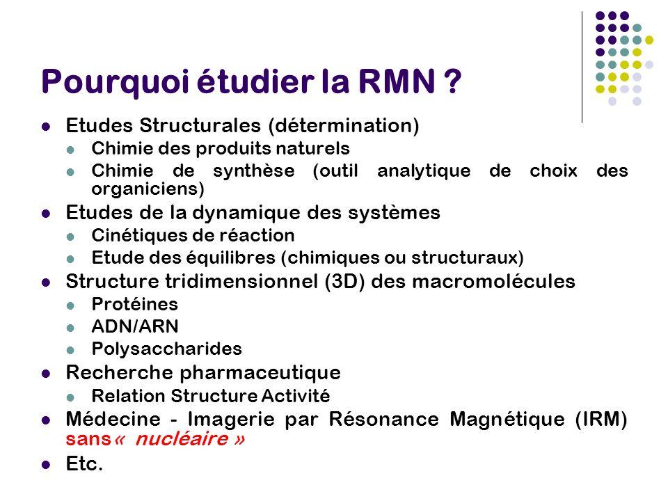 Pourquoi étudier la RMN .
