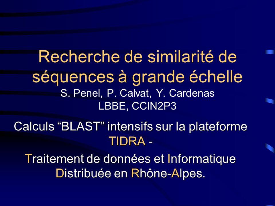 Recherche de similarité de séquences à grande échelle S.