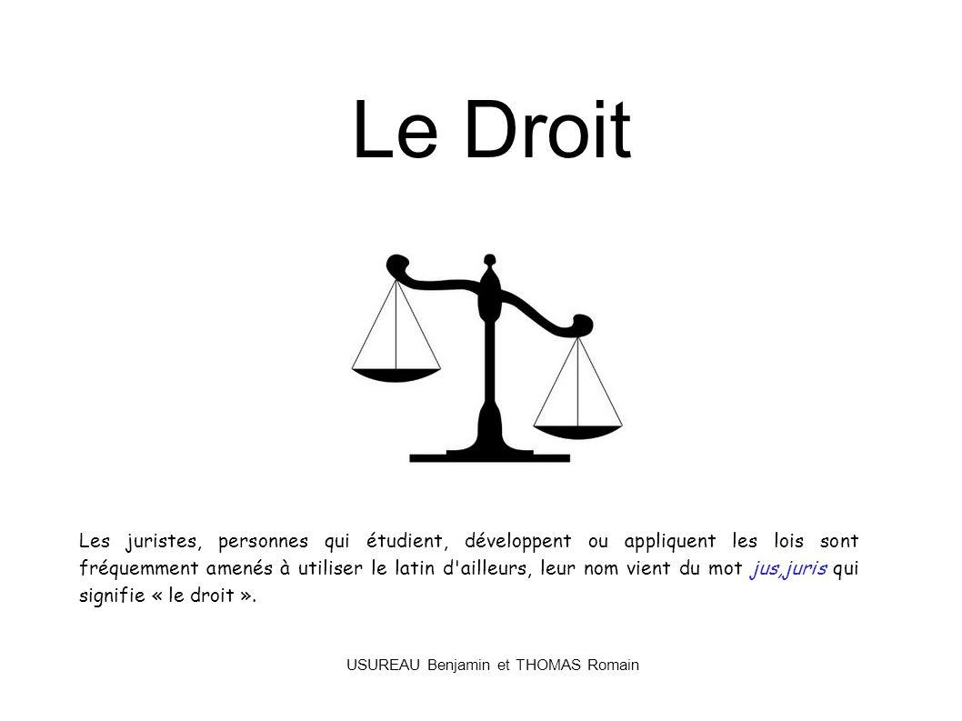 Le Droit Les juristes, personnes qui étudient, développent ou appliquent les lois sont fréquemment amenés à utiliser le latin d'ailleurs, leur nom vie