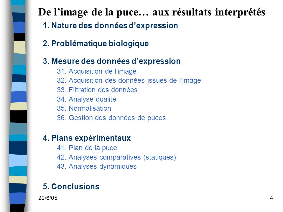 22/6/054 De limage de la puce… aux résultats interprétés 1.