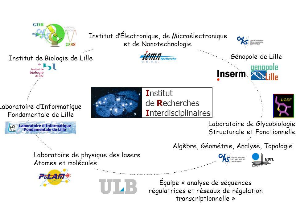Institut dÉlectronique, de Microélectronique et de Nanotechnologie Laboratoire dInformatique Fondamentale de Lille Laboratoire de physique des lasers