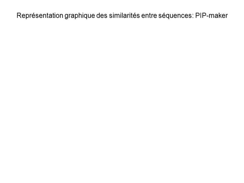 Représentation graphique des similarités entre séquences: PIP-maker