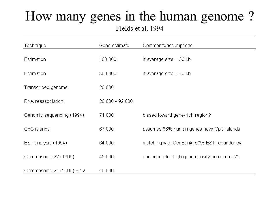 Îlots CpG Génome de vertébrés : –méthylation des C dans les dinucléotides 5 -CG-3 (CpG) Me-C fortement mutable -> T 5 -CG- 3 5 -TG-3 5 -CA-3 3 -GC- 5 3 -AC-5 3 -GT-5 Génome des vertébrés: globalement dépourvu en CpG (excès de TG, CA) Certaines régions (200 nt à plusieurs kb) échappent à la méthylation –Pas de déplétion en CpG: CpG o/e proche de 1 –Riche en G+C –Îlot CpG: Longueur > 500 nt CpGo/e > 0.6 G+C > 50% ou
