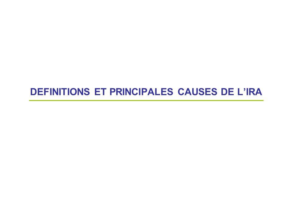 DEFINITIONS ET PRINCIPALES CAUSES DE LIRA