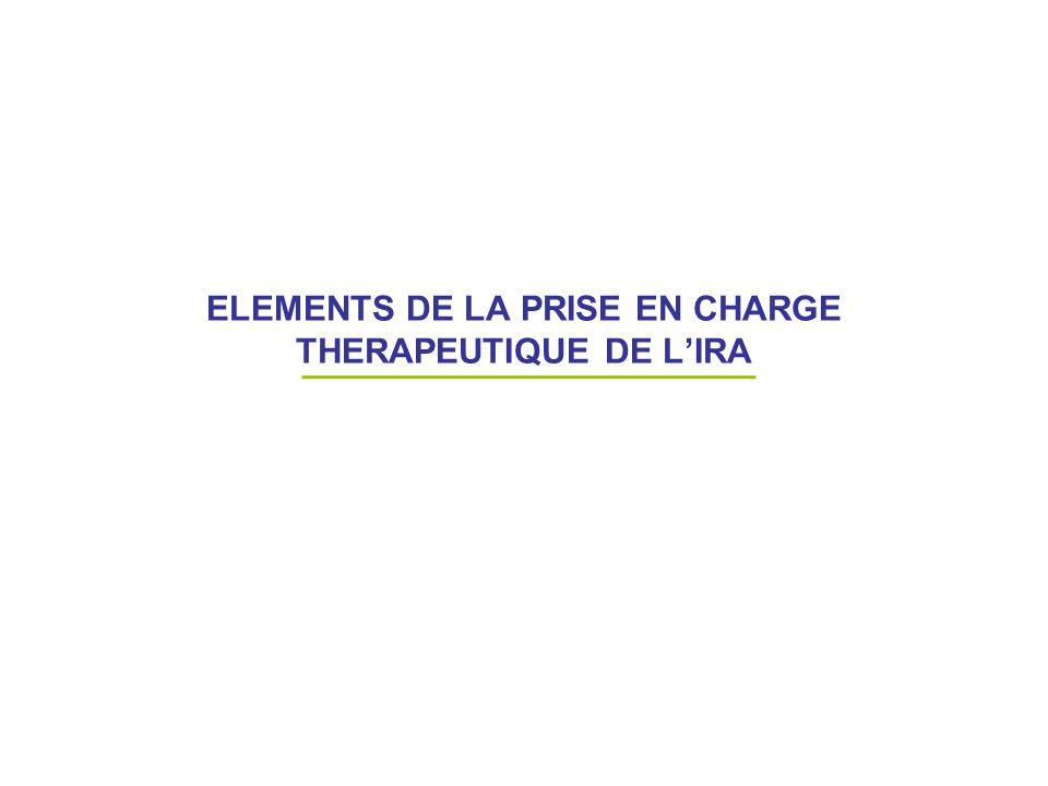 ELEMENTS DE LA PRISE EN CHARGE THERAPEUTIQUE DE LIRA