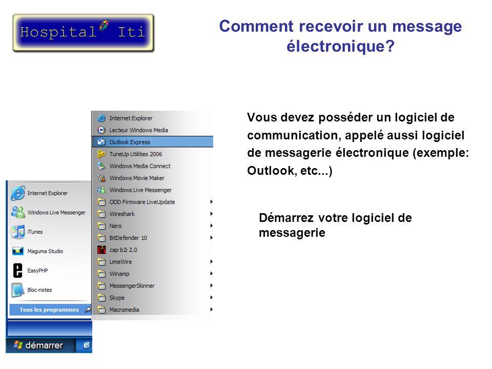 Vous devez vérifier dans votre logiciel de messagerie si vous avez reçu de nouveaux messages.