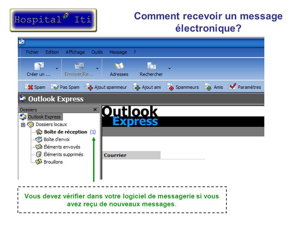Les messages apparaissent avec différents renseignements (Le non de l envoyeur, l objet et la date reçu).
