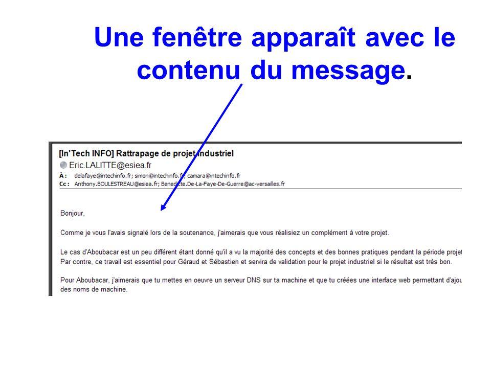 Comment répondre à un message .Vous devez cliquez sur l icône Répondre .