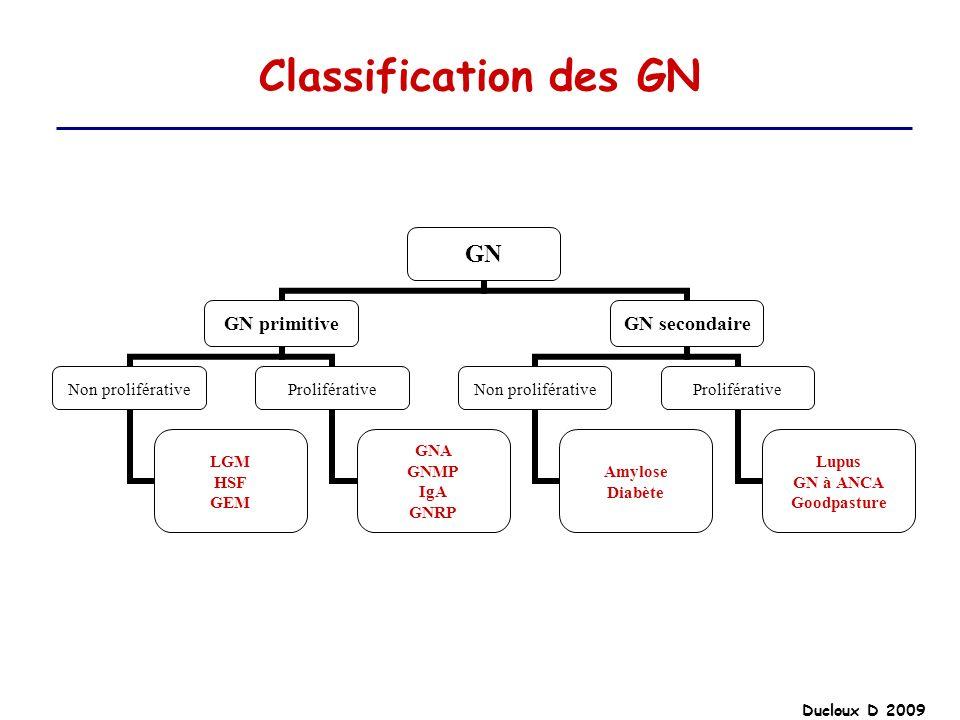 Ducloux D 2009 Classification des GN