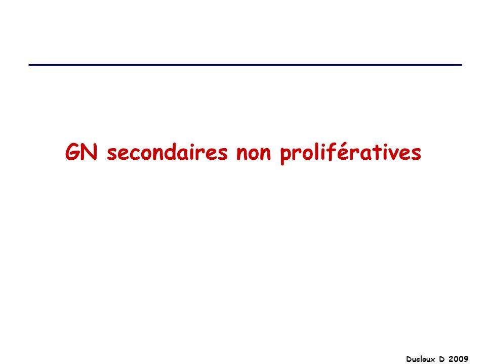 Ducloux D 2009 GN secondaires non prolifératives