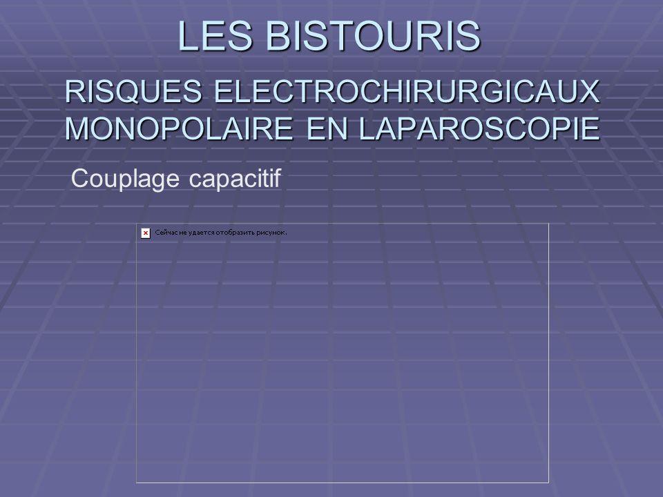LES BISTOURIS RISQUES ELECTROCHIRURGICAUX MONOPOLAIRE EN LAPAROSCOPIE Couplage capacitif