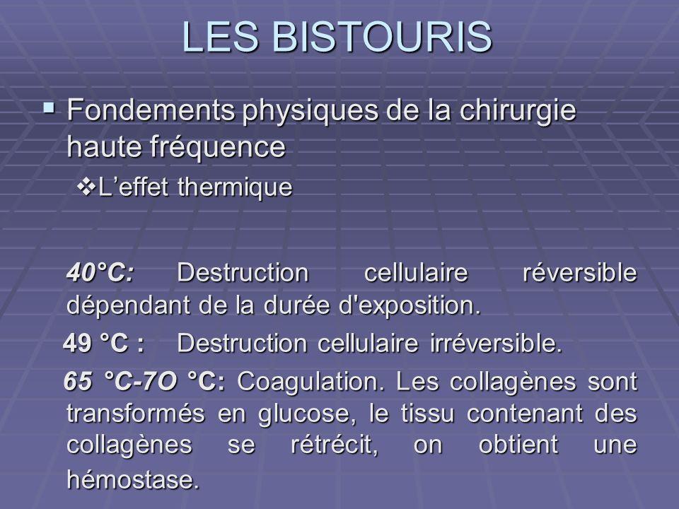 LES BISTOURIS LA COAGULATION SOUS ARGON Coagulation latérale et axiale