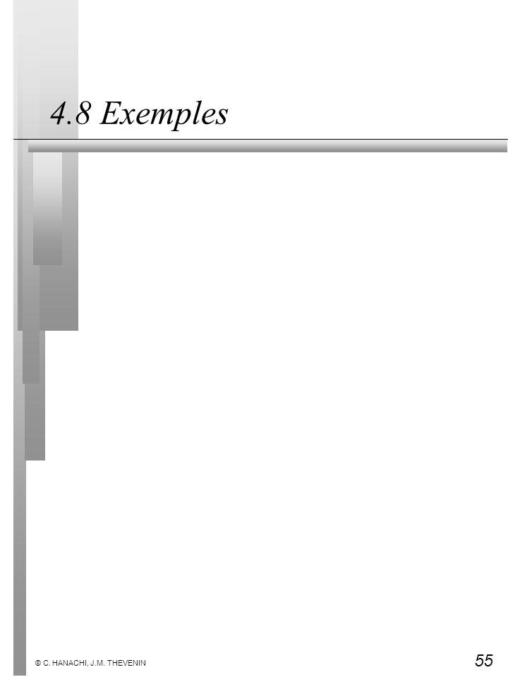 55 © C. HANACHI, J.M. THEVENIN 4.8 Exemples