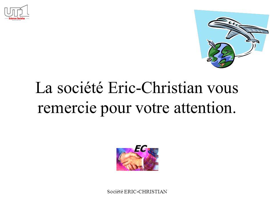 Société ERIC-CHRISTIAN La société Eric-Christian vous remercie pour votre attention. EC