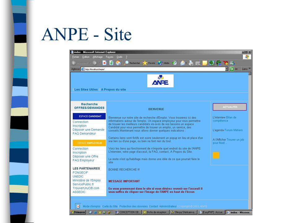 ANPE - Site