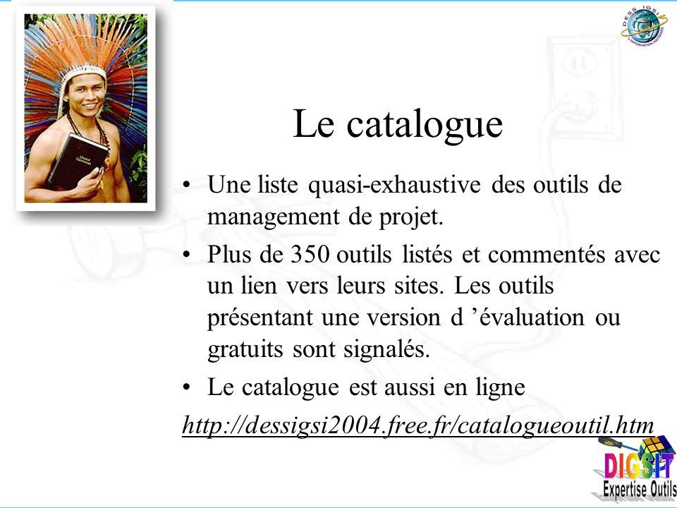 Le catalogue Une liste quasi-exhaustive des outils de management de projet.