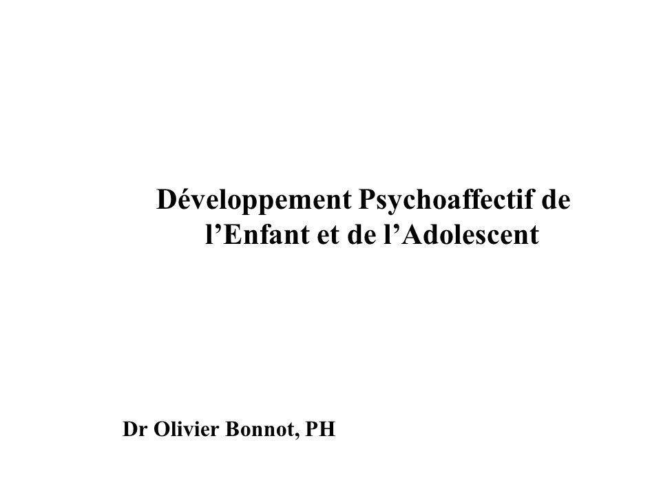 Développement Psychoaffectif de lEnfant et de lAdolescent Dr Olivier Bonnot, PH