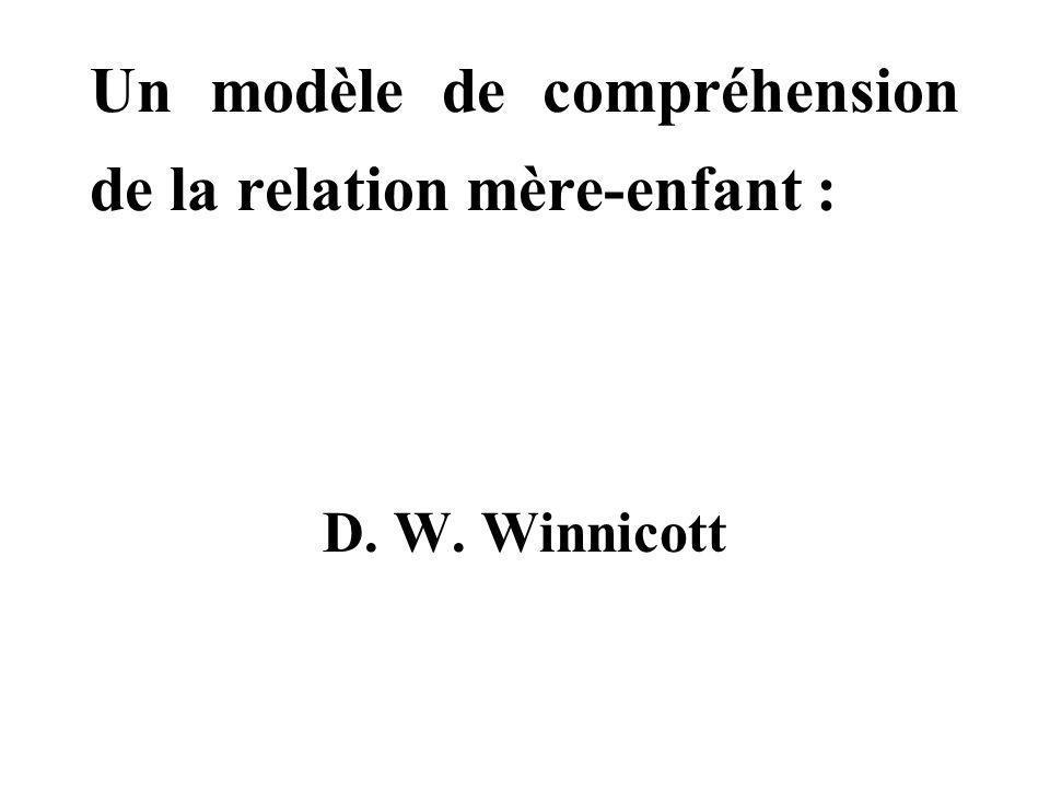 Un modèle de compréhension de la relation mère-enfant : D. W. Winnicott