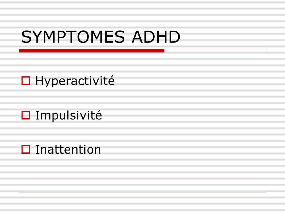Aspects génétiques La plupart des recherches ont montré un caractère familial et héritable pour le ADHD IL y a cinq fois plus de chance de trouver un ADHD dans une famille où il y en a déjà un par rapport à une famille où il ny en a pas.