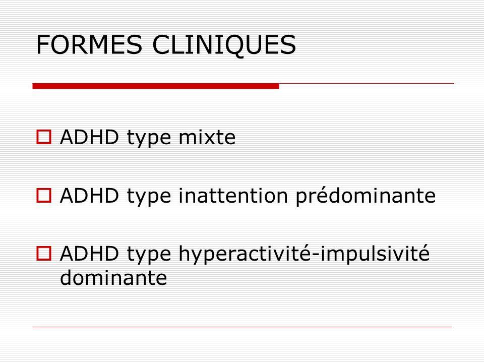 Diagnostic différentiel Enfants actifs avec un comportement adapté à leur âge Retard mental Trouble oppositionnel Tics TED Anxi é t é