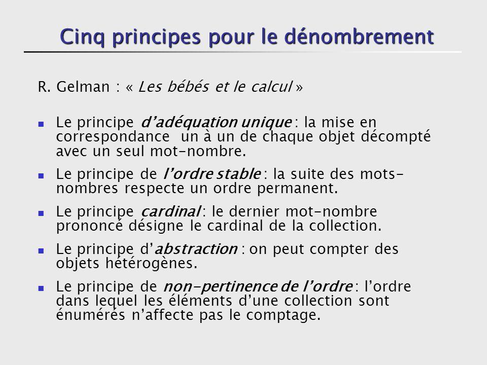 Cinq principes pour le dénombrement R.