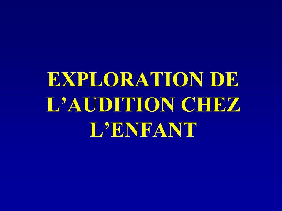 EXPLORATION DE LAUDITION CHEZ LENFANT