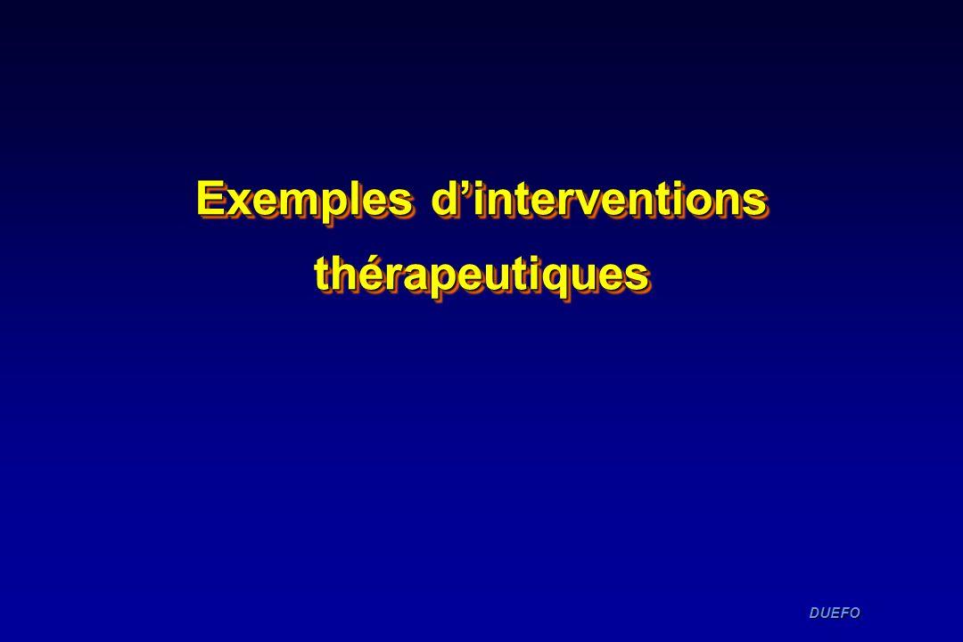 DUEFO DUEFO Exemples dinterventions thérapeutiques