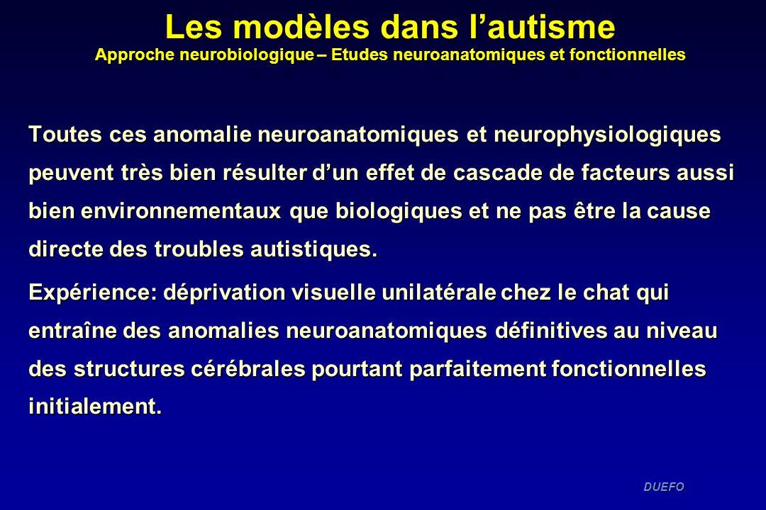 DUEFO DUEFO Toutes ces anomalie neuroanatomiques et neurophysiologiques peuvent très bien résulter dun effet de cascade de facteurs aussi bien environ