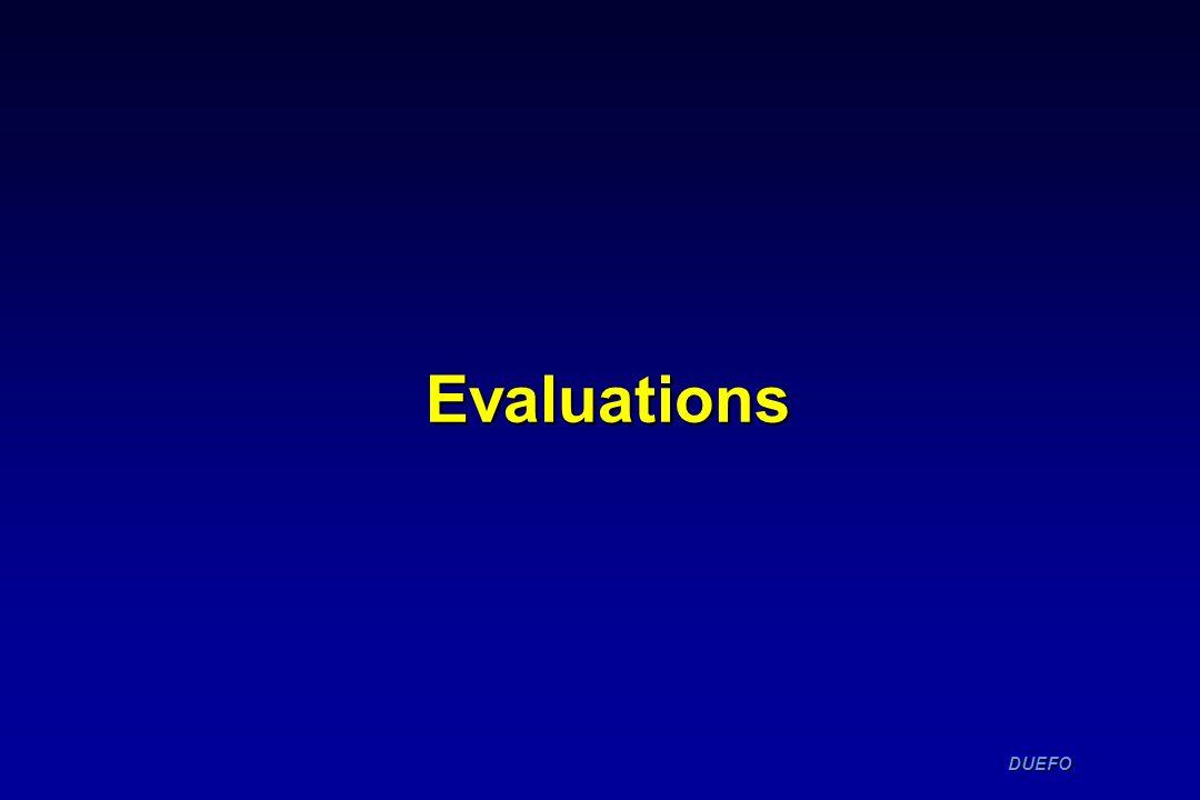 DUEFO DUEFO Evaluations