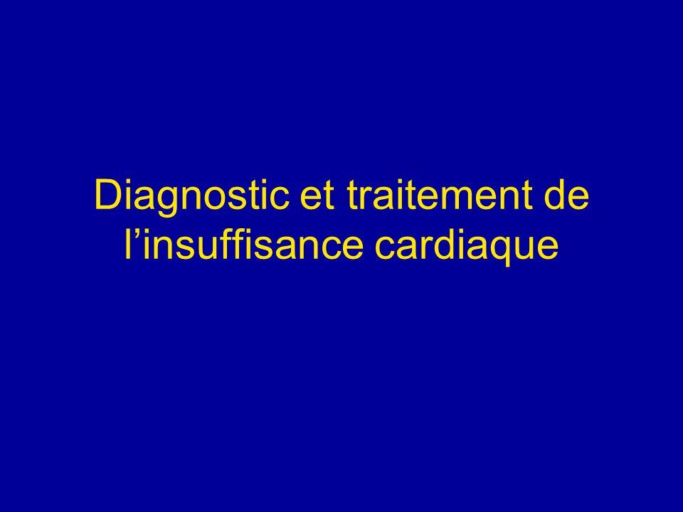 Diagnostic et traitement de linsuffisance cardiaque