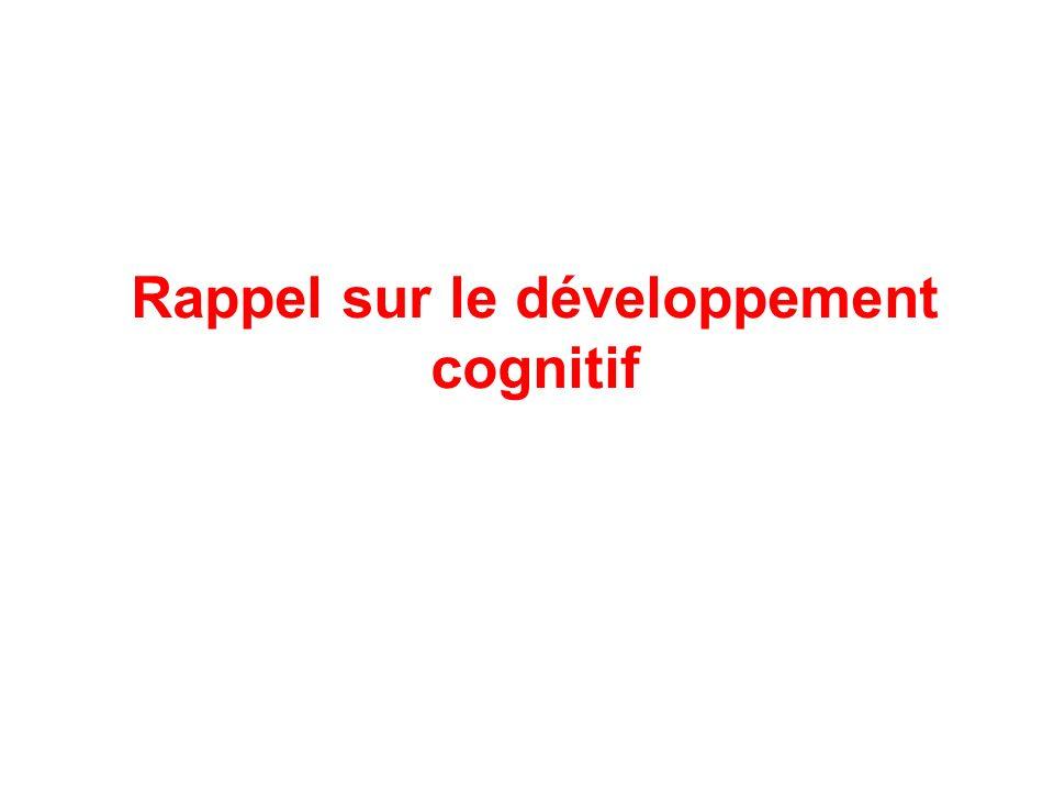 Rappel sur le développement cognitif