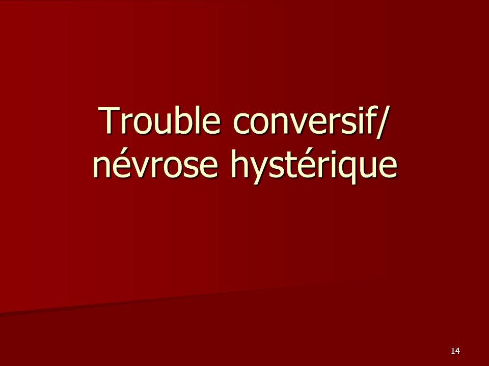 14 Trouble conversif/ névrose hystérique