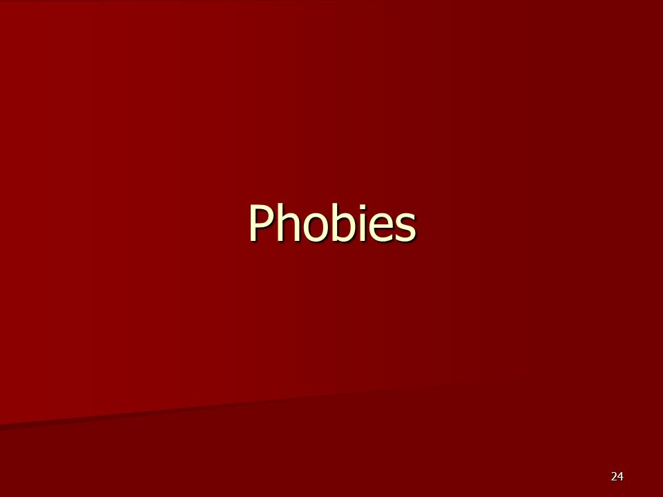 24 Phobies