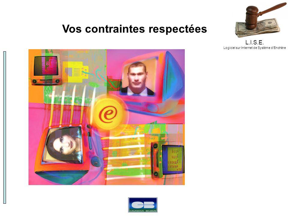 L.I.S.E. Logiciel sur Internet de Système dEnchère Vos contraintes respectées