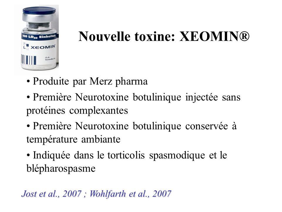 Produite par Merz pharma Première Neurotoxine botulinique injectée sans protéines complexantes Première Neurotoxine botulinique conservée à températur