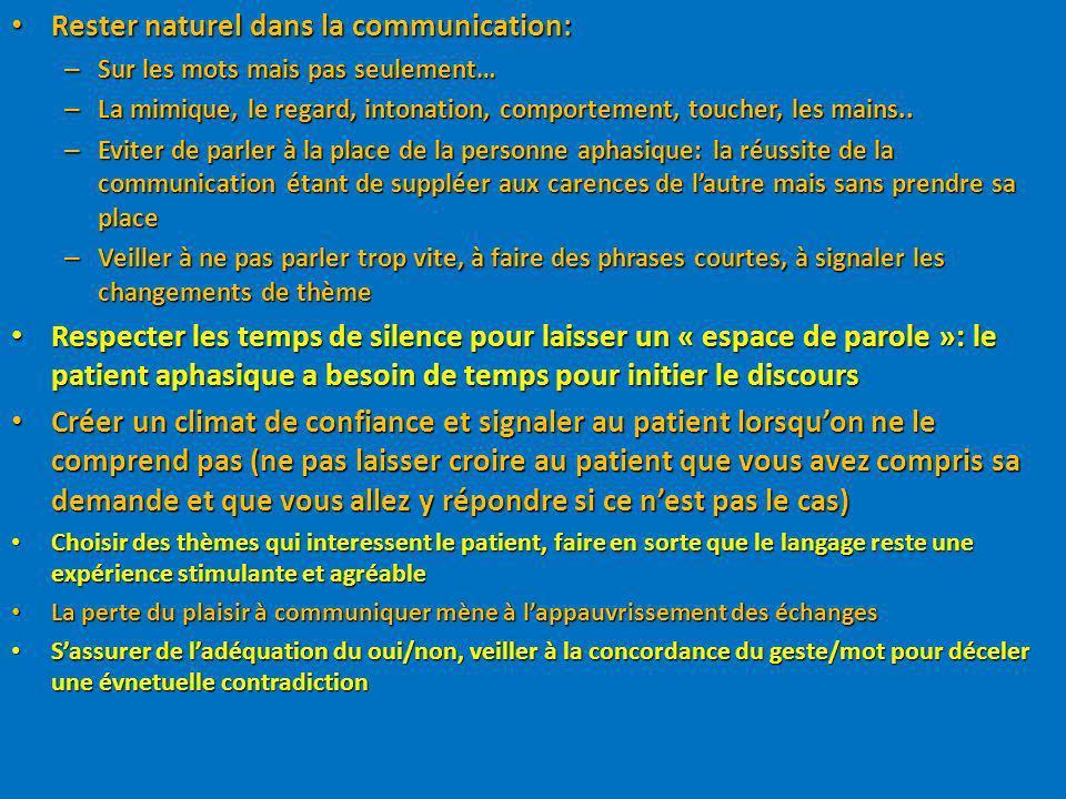 Rester naturel dans la communication: Rester naturel dans la communication: – Sur les mots mais pas seulement… – La mimique, le regard, intonation, co