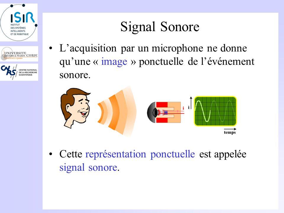 Cas de la production humaine Propagation dun son voisé (voyelle par exemple): –Une source (excitation) Cordes vocales pour les sons voisés.