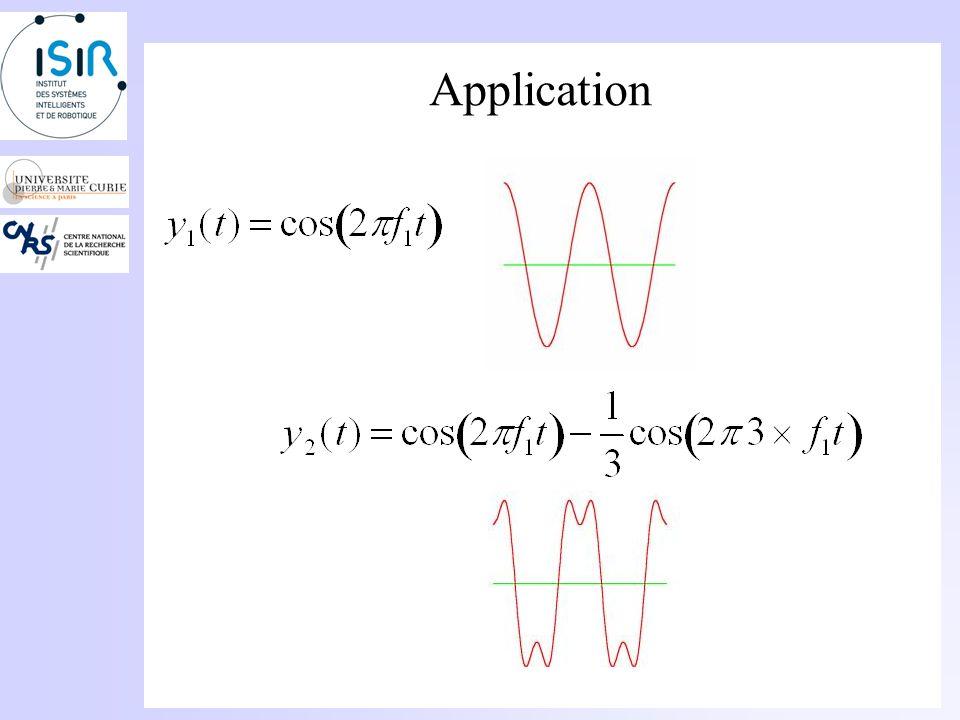 Analyse sons complexes Généralisation: Somme infinie de termes: Un signal périodique se décompose en somme de sinusoïdes élémentaires appelées harmoni