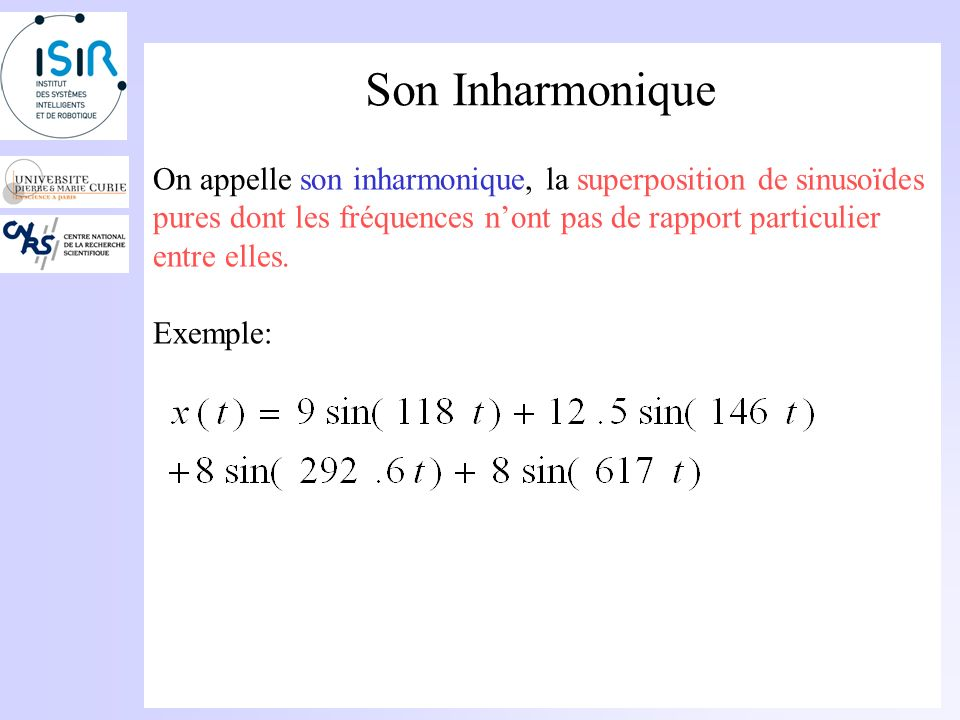 Son Harmonique Exemple :