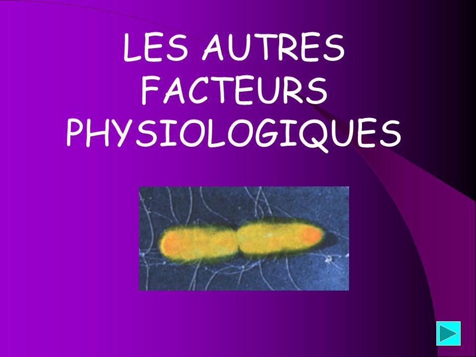 LES AUTRES FACTEURS PHYSIOLOGIQUES