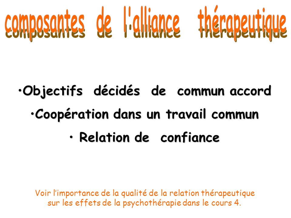 Objectifs décidés de commun accordObjectifs décidés de commun accord Coopération dans un travail communCoopération dans un travail commun Relation de