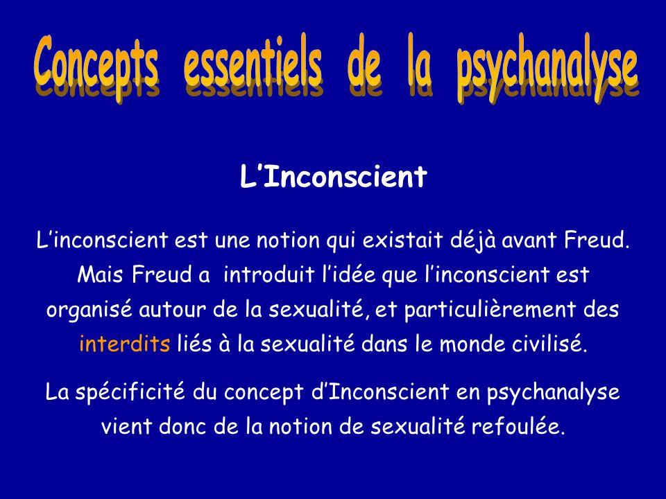 LInconscient Linconscient est une notion qui existait déjà avant Freud. Mais Freud a introduit lidée que linconscient est organisé autour de la sexual