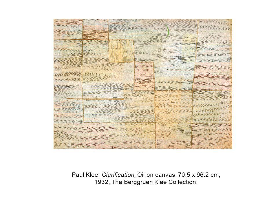 Paul Klee, Clarification, Oil on canvas, 70.5 x 96.2 cm, 1932, The Berggruen Klee Collection.