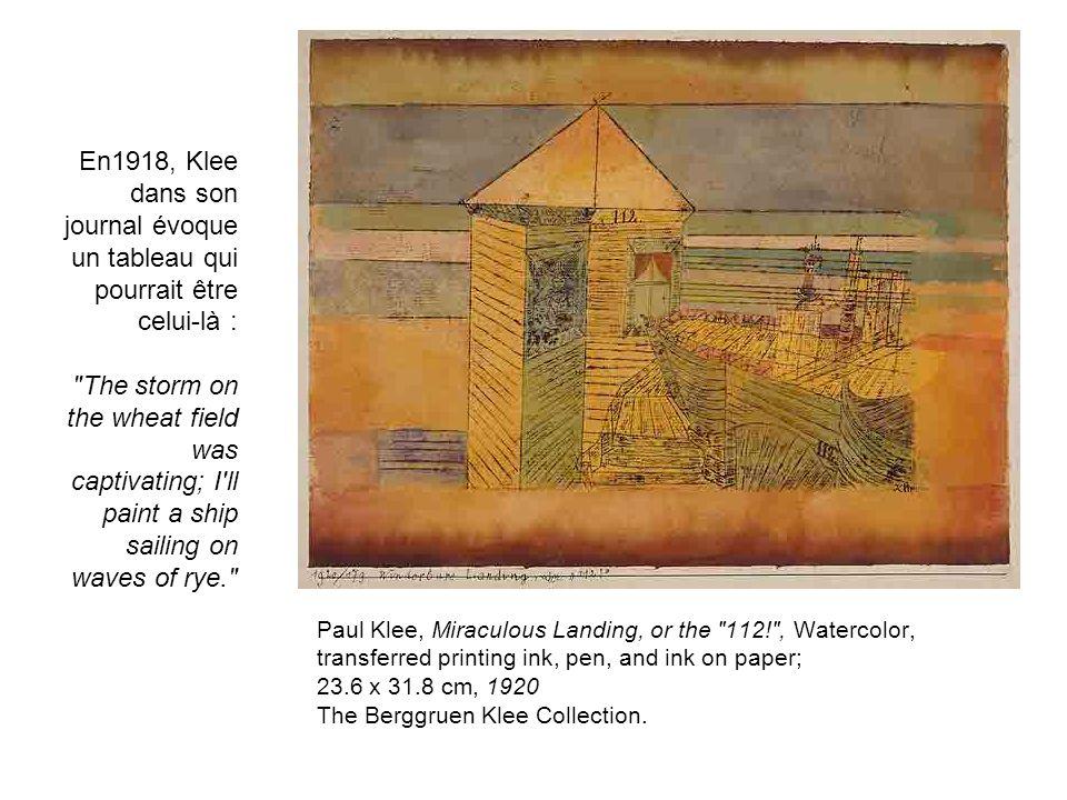 Paul Klee, Miraculous Landing, or the