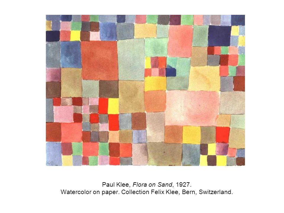 Paul Klee, Flora on Sand, 1927. Watercolor on paper. Collection Felix Klee, Bern, Switzerland.