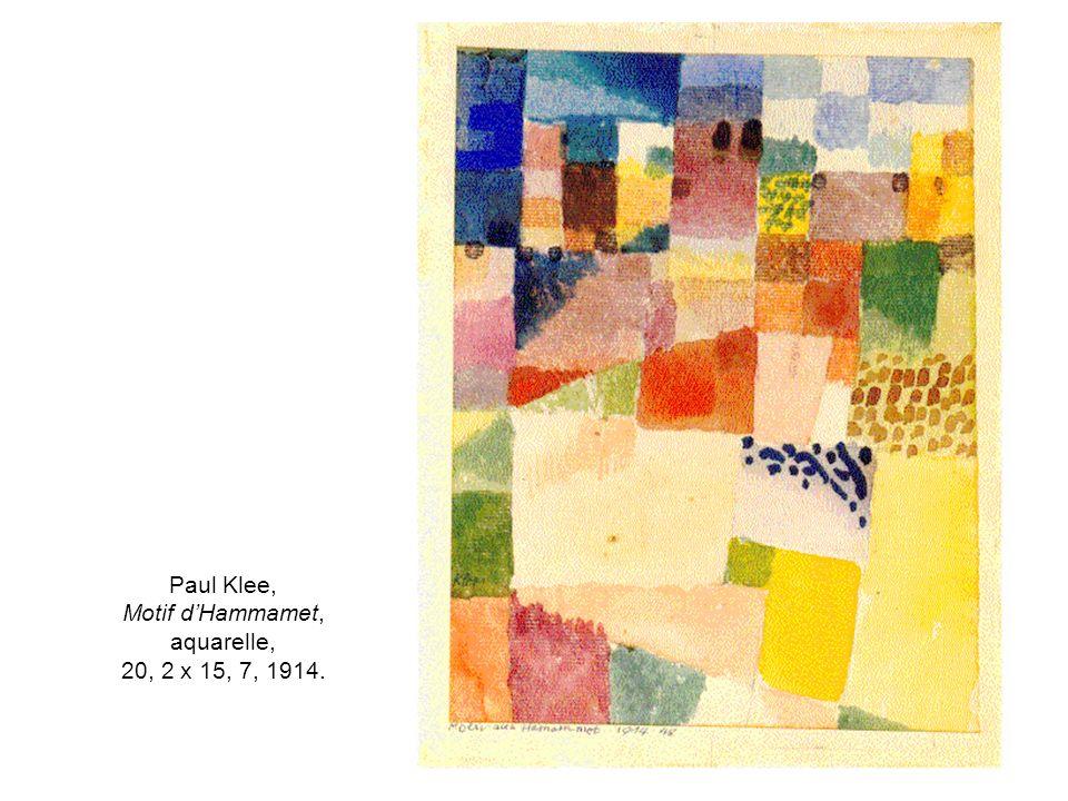 Paul Klee, Motif dHammamet, aquarelle, 20, 2 x 15, 7, 1914.
