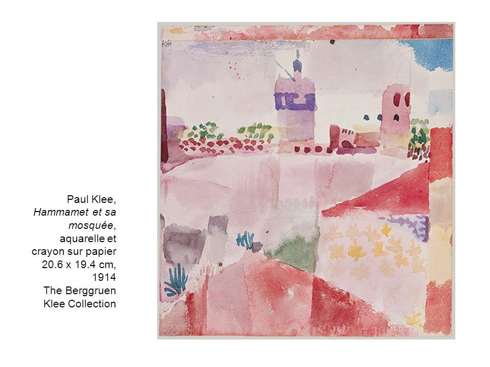 Paul Klee, Hammamet et sa mosquée, aquarelle et crayon sur papier 20.6 x 19.4 cm, 1914 The Berggruen Klee Collection