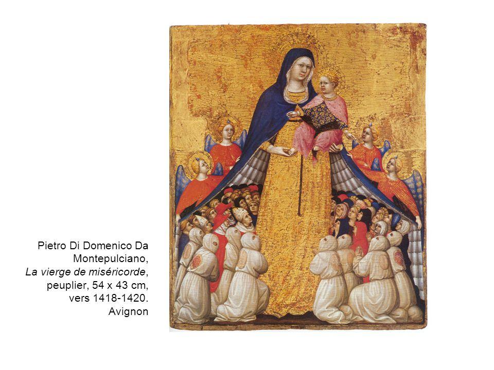 Pietro Di Domenico Da Montepulciano, La vierge de miséricorde, peuplier, 54 x 43 cm, vers 1418-1420. Avignon